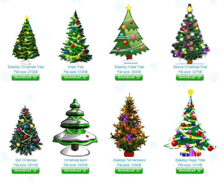it is possible to launch copies of the same tree on the computer desktop or add another type of tree it might be to much of a distraction for users working - Type Of Christmas Trees