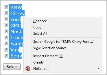 check uncheck