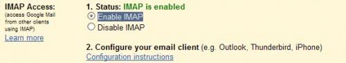 enable imap