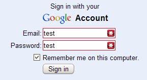 firefox password