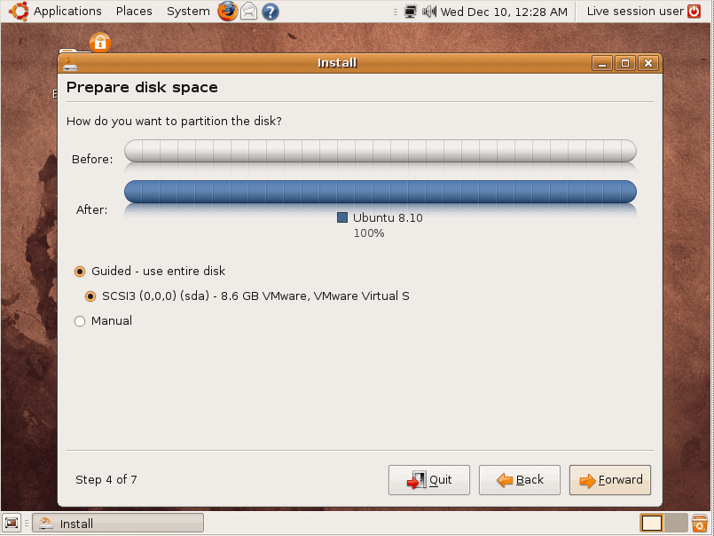 Partition your disk