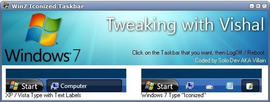 windows7 taskbar iconizer