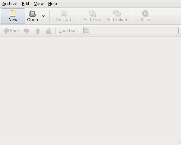 File Roller Main Window