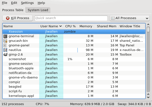 KDE System Monitor