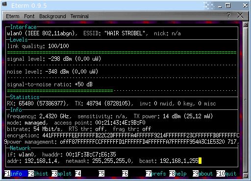 Wavemon Info Window