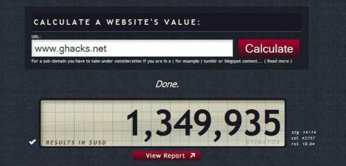 Website Value Calculator Stimator