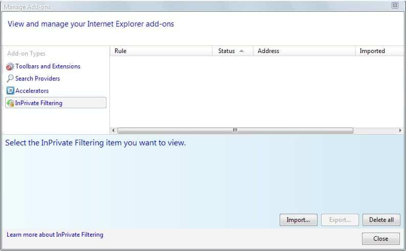internet explorer 8 ad blocking