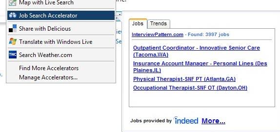 internet explorer job search