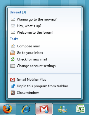 gmail jumplist