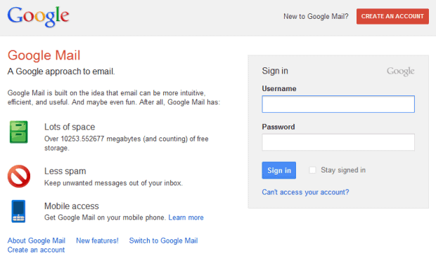 google mail login