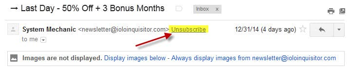 gmail unsubscribe newsletter