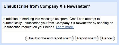 gmail unsubscribe
