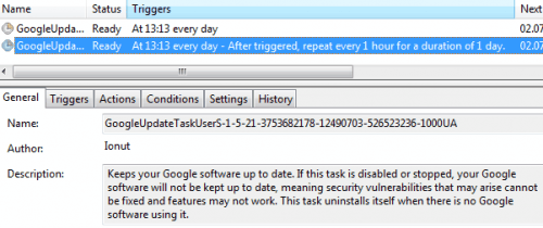 google update task scheduler