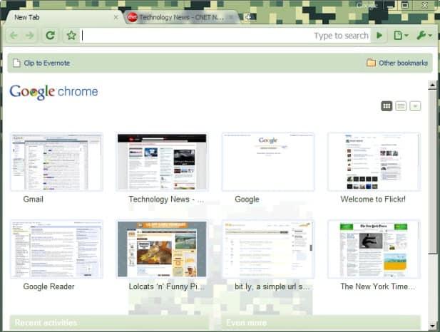 google chrome camo theme