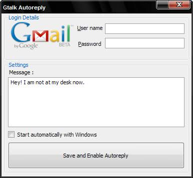 google talk autoreply