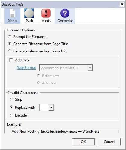 website desktop shortcuts