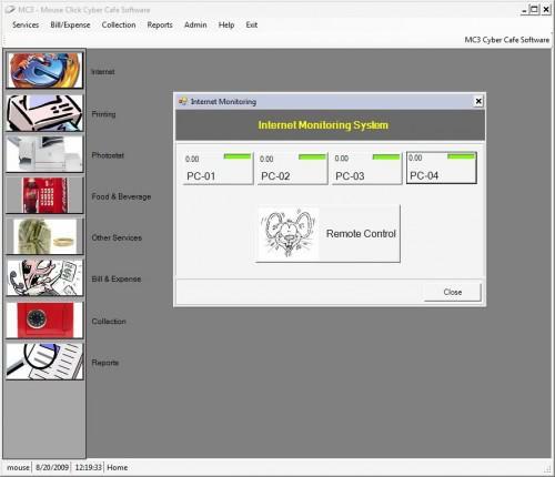 internet cafe monitoring software