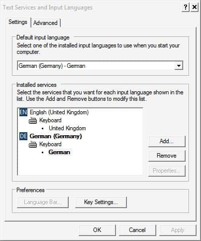 computer keyboard locales