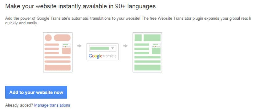 add translation to website