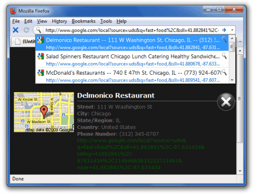 cybersearch gloc fastfood