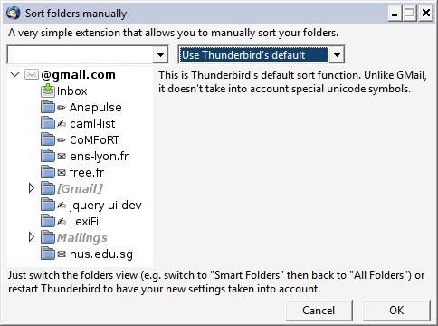 email default sort order