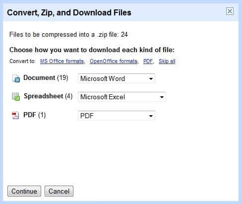 Google Docs Adds Zip Document Export Ghacks Tech News