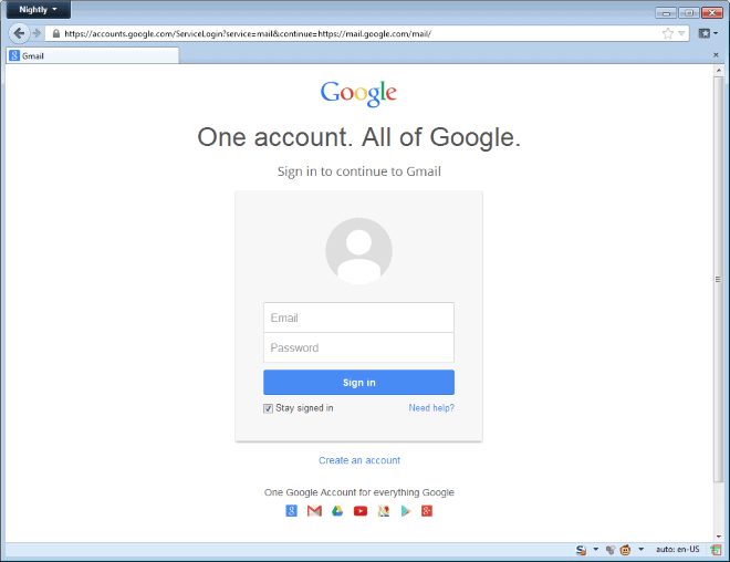 Gmail login page ghacks tech news Google sites sign in