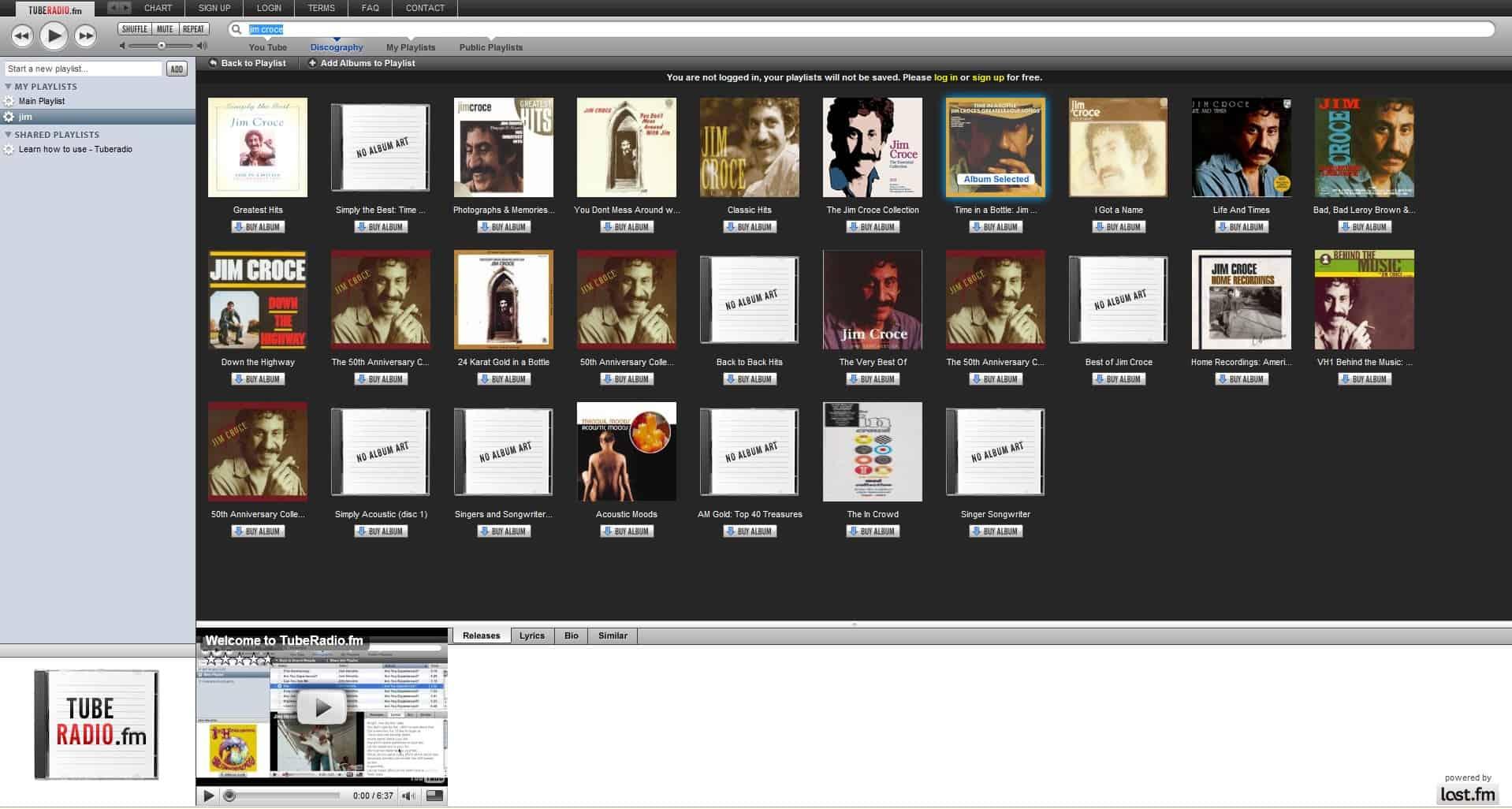 tuberadio albums