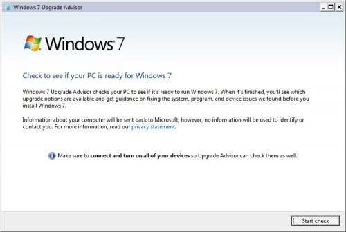 windows upgrade advisor
