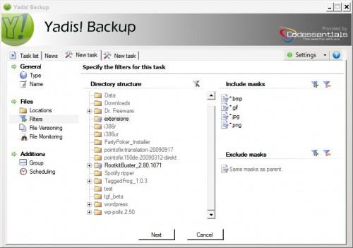 yadis backup software