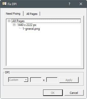 how to change dpi on pdf file