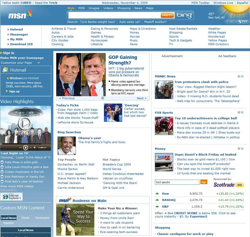 how to make msn your homepage