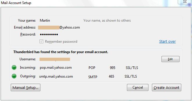 thunderbird email account