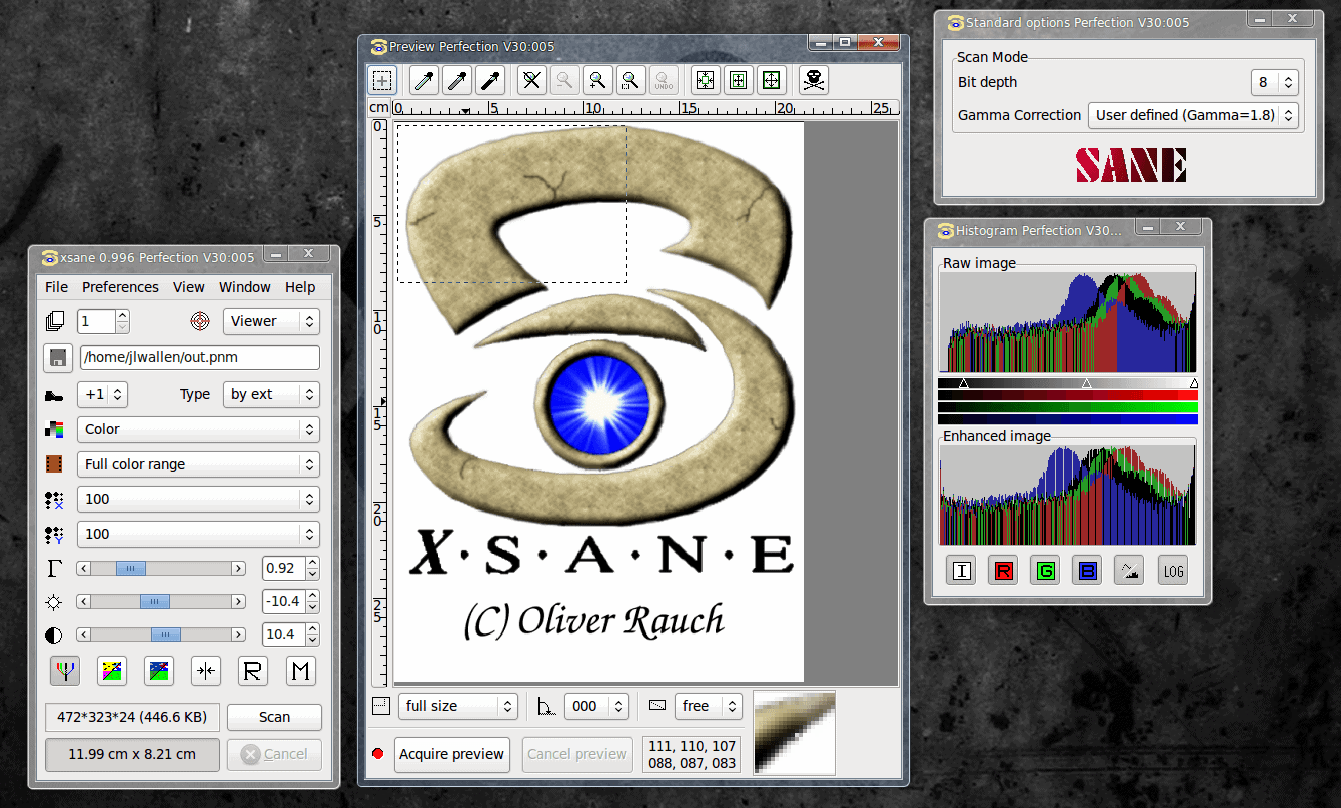 Scanning in Linux with iscan and XSane