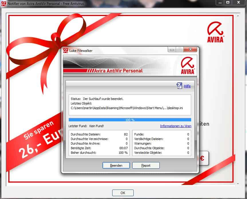 Block Avira Antivir Popup And Update Window