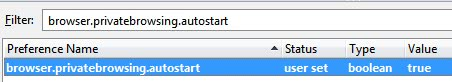 Autostart Firefox In Private Browsing Mode