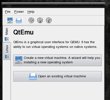 Install virtual machines with qtemu