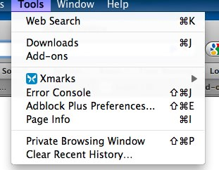 firefox private browsing window