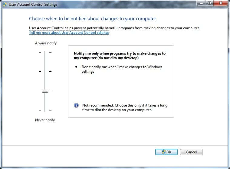 Stop UAC From Dimming The Desktop in Windows