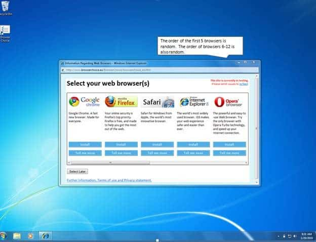 Windows Browser Choice Screen Will Cause Confusion In Europe