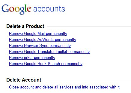How to cancel Google
