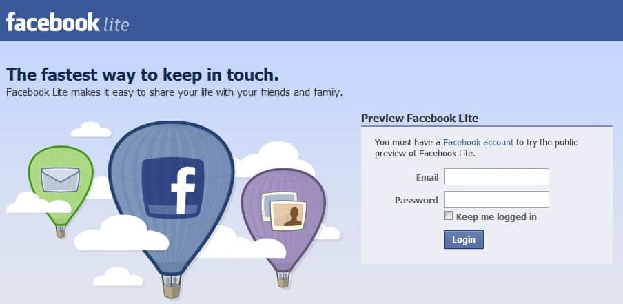 Facebook lite login blank page ghacks tech news several users are currently reporting a blank page problem when logging into facebook lite thats usually not a big problem as most can go back to using stopboris Gallery