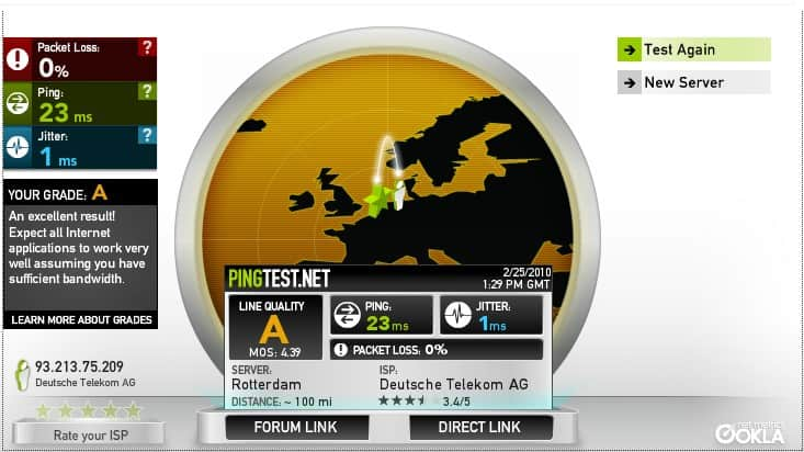 Internet Connection Reliability Test