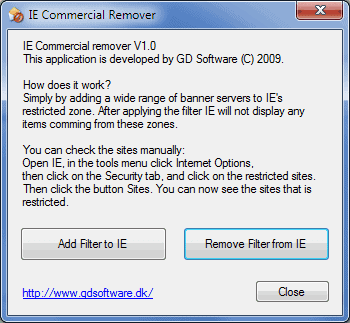 internet explorer commercial remover