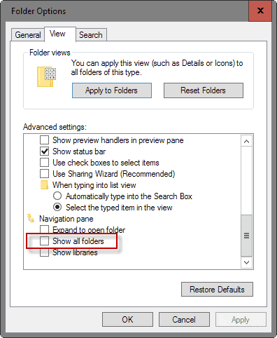 Display Control Panel And Recycle Bin In Windows Explorer