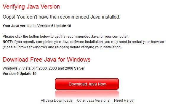 Java JRE 6 Update 19 Security Update