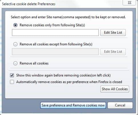 whitelist cookies