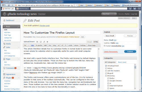How To Customize The Firefox Layout