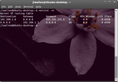 How do I find my network information – in Linux?