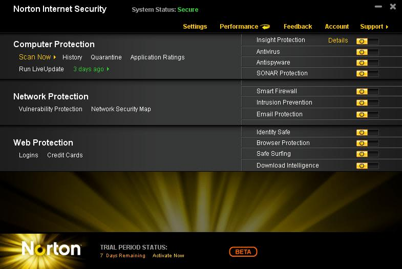 Norton Internet Security And Norton AntiVirus 2011 Beta Download